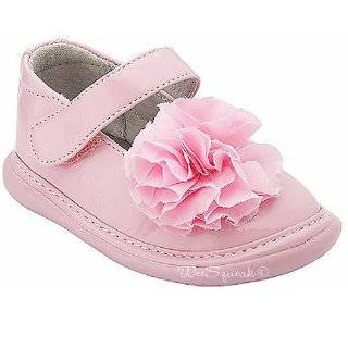 com Wee Squeak Baby Toddler Girls White Ankle Strap Peony Dress Shoes