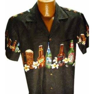 HAWAIIAN MENS ISLAND BEERS SHIRT Clothing