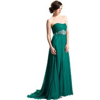 Strapless Chiffon Goddess Gown Prom Dress Formal Junior Plus Size