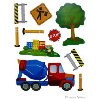 Car And Truck Childrens Room Decor Wall Stickers Decals Removable Art
