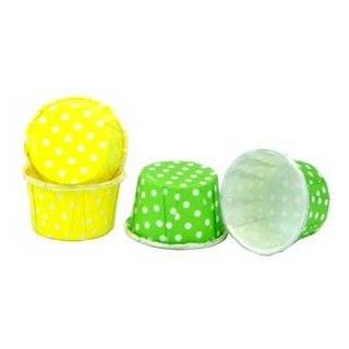 Polka Dot Treat Cups   Lime