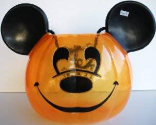 Disney Halloween Candy Pail/Trick or Treat Bag   Mickey Mouse Pumpkin