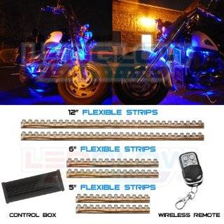 Motorcycle LED Neon Accent Lighting Kit with 10 Chrome LED Light Pods