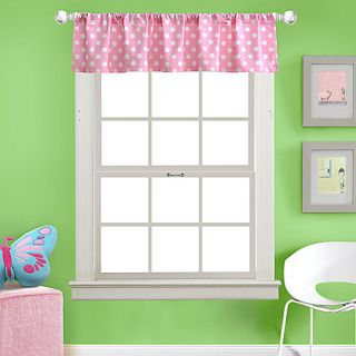 KAS Kids Little Wings Valance Pink White Polka Dots Teen Girls Room Baby Nursery