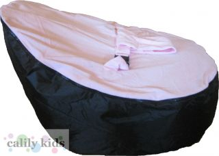 Baby Toddler Kids Portable Bean Bag Seat Snuggle Bed Black Light Pink