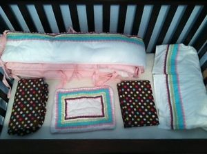 Pottery Barn Kids Coco Dot Girls Baby Bedding