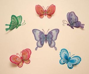 Nursery Baby Childrens Girls Kid Child Bedroom Butterfly Wall Furniture Stickers
