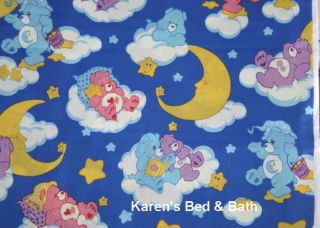 Care Bears Blue Baby Boy Girl Nursery Glow in Dark Clouds Curtain Valance New