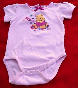 "Baby Girl Clothes Disney Pink Baby Girl Adorable ""Pooh"" Onesie 18 Mos"