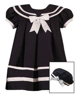 New Baby Girls RARE Editions Sz 18M Navy Sailor Dress Clothes Birthday 18 Months