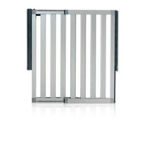 Munchkin Loft Aluminum Infant Safety Gate Silver Security Baby Toddler Pet New