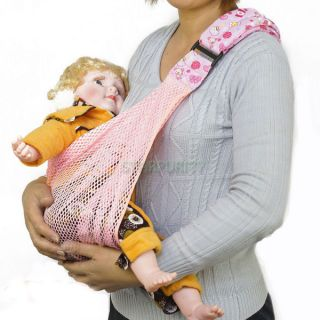 Kid Newborn Infant Breathable Mesh Net Single Shoulder Safety Sling Baby Carrier