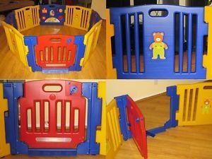New Kids Baby Child Playpen 8 Panels Playzone Little Security Safety Yard