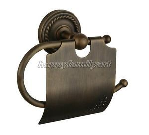 Antique Brass Toilet Paper Holder