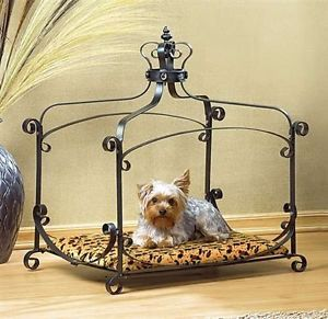 Kings Royal Wrought Iron Pet Sofa Bed Small Dog Cat Pup Bed