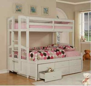 Children Kids Princess Bunk Bed Trundle Bedroom Furniture Twin Girls Christmas