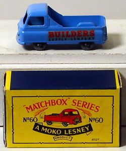 "DTE Moko Lesney Matchbox Regular Wheels 60 1 KGPW CA Red Black ""Builders Supply"""