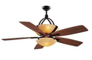 Hampton Bay Miramar 60 inch Ceiling Fan with Remote Control Light Kit Bronze
