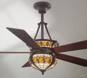 "New 52"" Hampton Bay Studdart Ceiling Fan by Dale Tiffany with Remote"