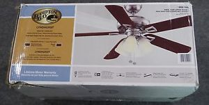 Indoor Brushed Nickel Ceiling Fan Hampton Bay Lyndhurst 52 in 850193