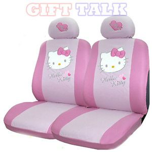 Hello Kitty Pink Auto Car Accessory Seat Covers Cover Front