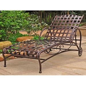 Adjustable Multi Position Metal Pool Chaise Lounge Lounger Chair New