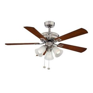 Hampton Bay Sinclair 44 in Brushed Nickel Ceiling Fan