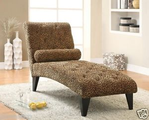 Leopard Print Living Room Chaise Sofa Lounge Chair Coaster New Furniture 902076