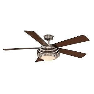 Hampton Bay Mondrian 52 in Brushed Nickel Ceiling Fan