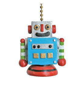 Whimsical Robot Childrens Decor Ceiling Fan Light Pull