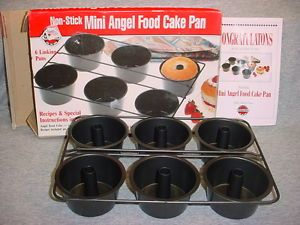 Norpro Mini Angel Food Sponge Cake Pan 6 Mold Baking Tin Dessert Instruction New