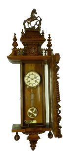 Gorgeous Antique German 3 Weight Wall Clock at 1880 Grand Sonnerie