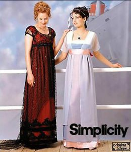 Simplicity Sewing Pattern 8399 Titanic Rose's Jump Swim Dress Costumes 16 20