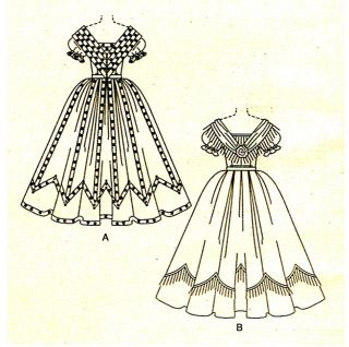 Civil War Victorian Southern Belle Gowns Costumes Sewing Pattern Size 6 8 10