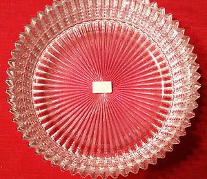 Mikasa Crystal Clear Glass Bowl w Crystal Pleats Made in Japan