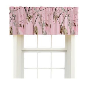 Realtree AP Pink Camouflage Window Curtains Valance