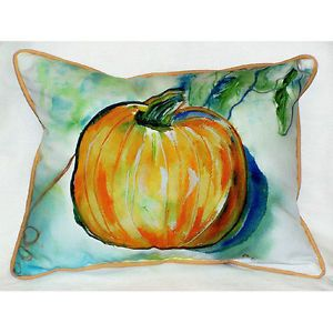 Indoor Outdoor Fall Autumn Harvest Pumpkin Decorative Art Throw Pillow