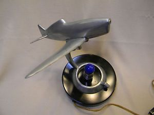 1930's Art Deco Military Aircraft Desk Lamp