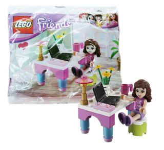 Lego Friends Olivia's Desk Set 30102 RARE New Mint in SEALED Polybag