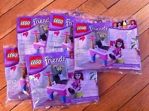 Lot of 5 Lego Friends 30102 Olivia's Desk Sets New and SEALED Great Party Favor