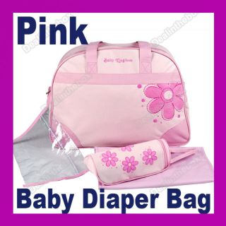 New Multi Function Style Flower Baby Diaper Nappy Changing Bag