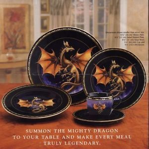 Franklin Mint Dragon Dynasty Collection Dinner Plates Fantasy Dinnerware 1 Set