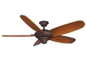 "Hampton Bay Altura 56"" Ceiling Fan w Hand Carved Blades Remote Control Bronze"