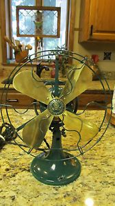 GE Whiz Antique Electric Fan General Electric Brass Blades