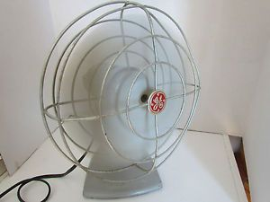 Vintage GE General Electric 4 Blade Table or Wall Fan Quiet Industrial