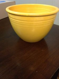 Fiesta Ware Vintage No 4 Mixing Bowl Deep Golden Yellow Early