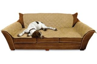 KH Mfg Dog Cat Pet Hair Dirt Furniture Couch Sofa Cover Protector Tan KH7820