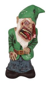 Green Zombie Garden Yard Gnome Halloween Prop Decoration New Losing Eye 11 Inch