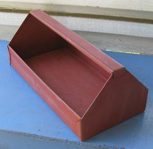 Vintage Metal Small Parts Tool Box Tray Garden Tote Carrier Craft Cubby