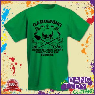 Gardening T Shirt Mens Fathers Day Birthday Funny Garden Tools Rake Gift Idea